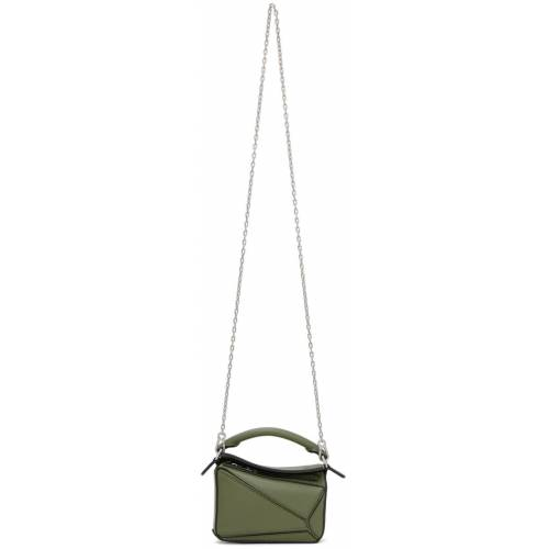Loewe Green Nano Puzzle Bag UNI