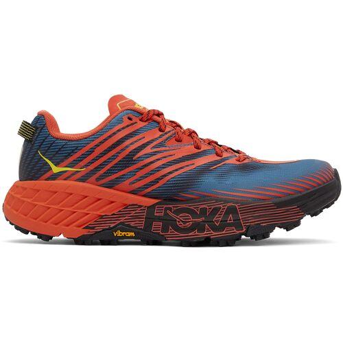 Hoka One One Red & Blue Speedgoat 4 Sneakers 40