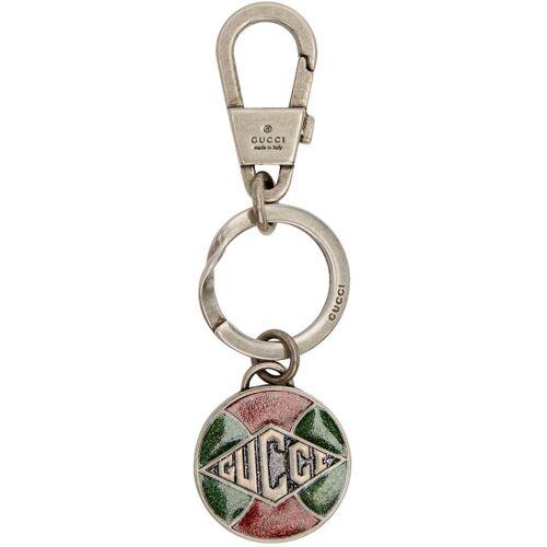 Gucci Silver Logo Keychain UNI