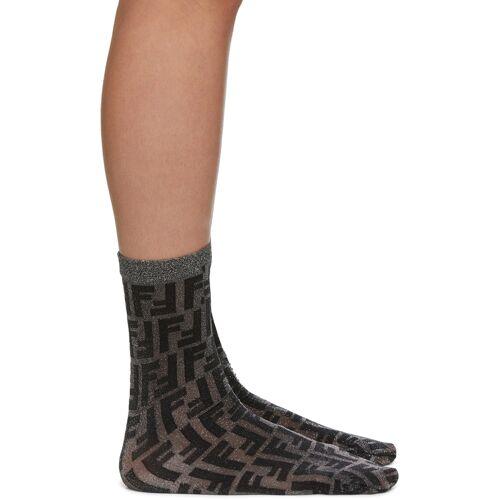 Fendi Black Short Lurex Socks 34/35