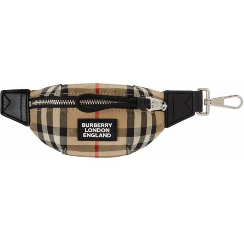 Burberry Beige Sonny Bum Bag Keychain UNI