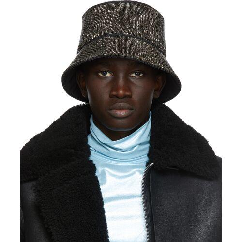 KARA Black Hematite Mesh Bucket Hat 56