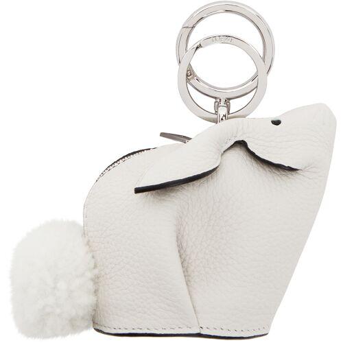 Loewe White Bunny Charm Keychain UNI