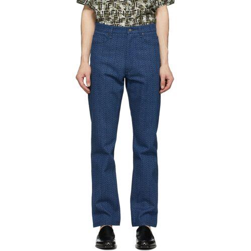 Fendi Blue 'Fendi Laser' Jeans 33