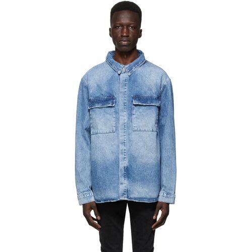 Ksubi Blue Snakebite Shirt S