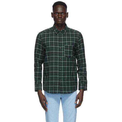 A.P.C. Green Plaid John Shirt S