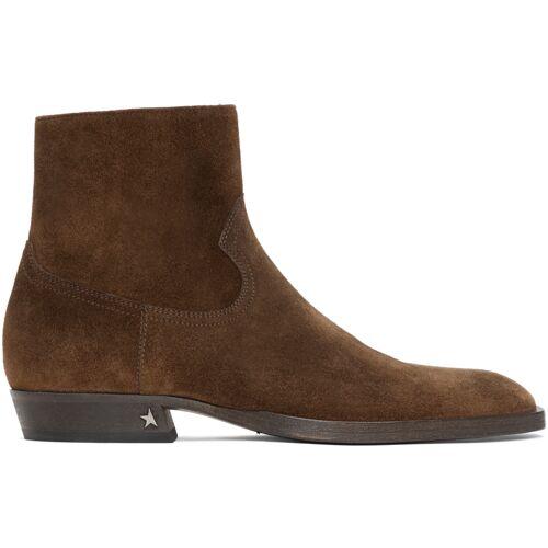 Golden Goose Brown Rock Jimi Zip Boots 40