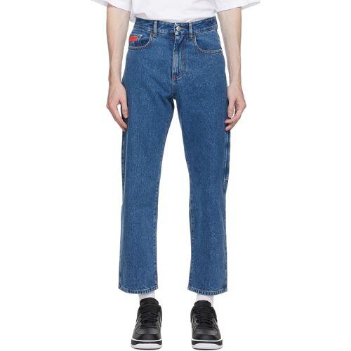 GCDS Blue Logo Bucket Jeans 28