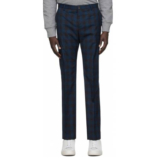 PS by Paul Smith Navy Plaid Trousers 30