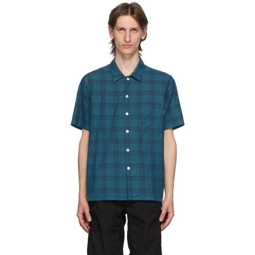 PS by Paul Smith Blue & Black Camp Plaid Shirt XXL