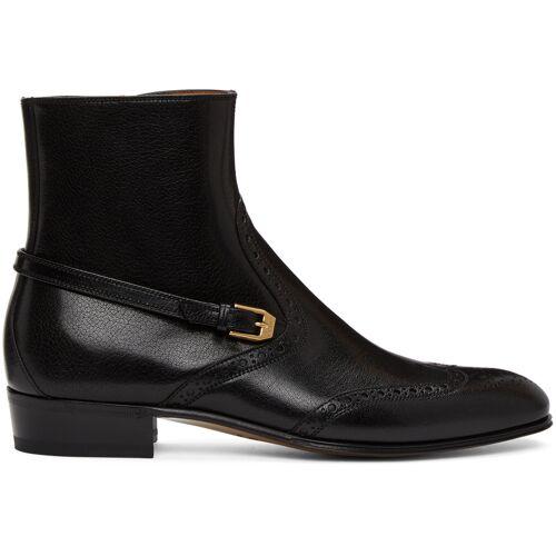Gucci Black Brogue Boots 44
