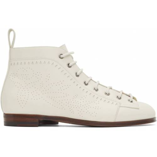 Gucci White Brogue Boots 46.5