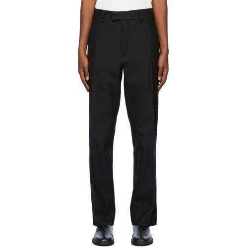 3MAN Black Wool Twill Trousers 32