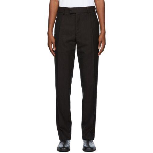 3MAN Brown Wool Twill Trousers 34