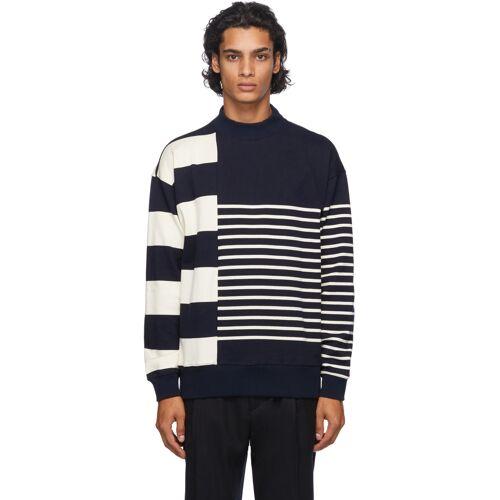 Nanamica Navy & Beige Nanamican Sweater XS