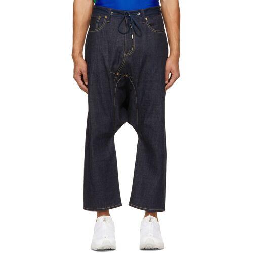 Fumito Ganryu Indigo 5-Pocket Sarouel Jeans 36