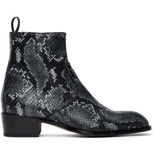 Giuseppe Zanotti Grey Python Seba Boots 45
