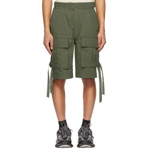 Juun.J Khaki Gurkha Pocket Shorts 28