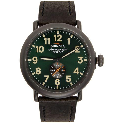 Shinola Black & Green 'The Runwell' 47mm Watch UNI