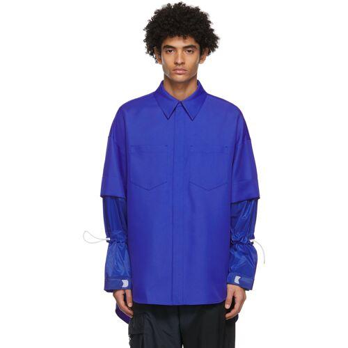 JERIH Blue Detachable Shirt L