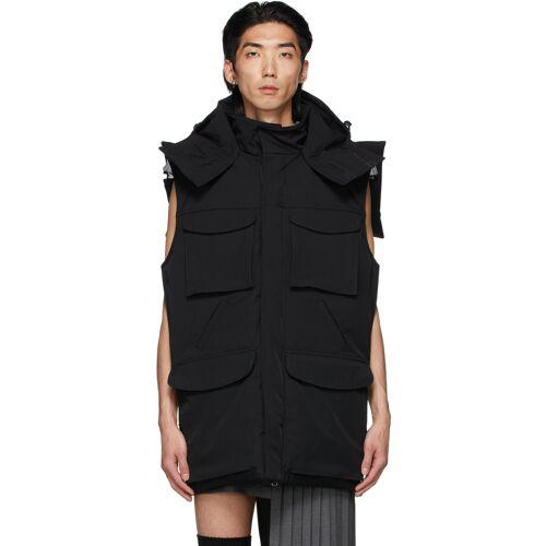 Hood by Air Black Backless Tie Vest L