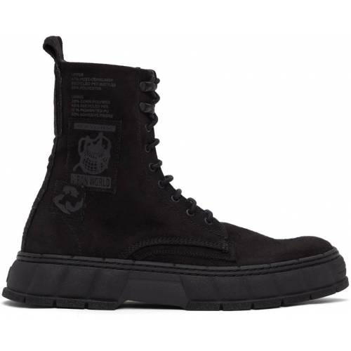 Virón Black Faux-Suede 1992 Boots 42