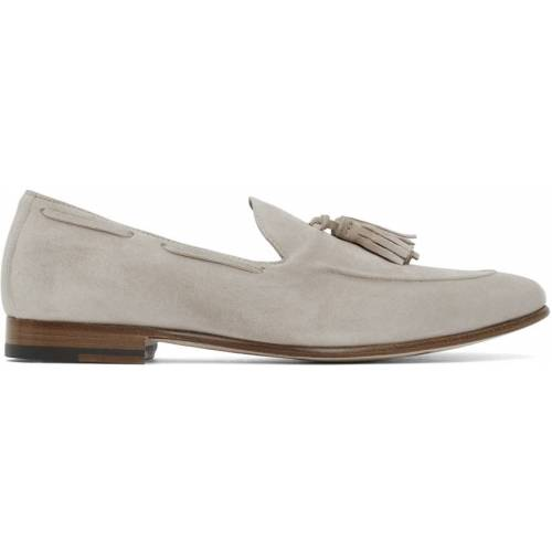 Isaia Tan Suede Tassel Loafers 38.5