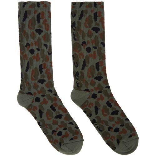Palm Angels Khaki Military Camo Socks 46/47