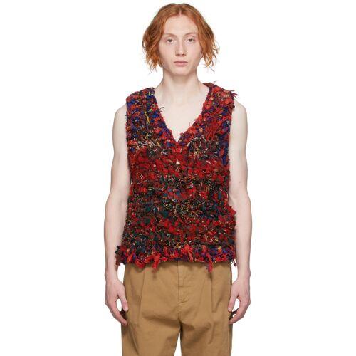 Liam Hodges Red Check Picnic Vest S