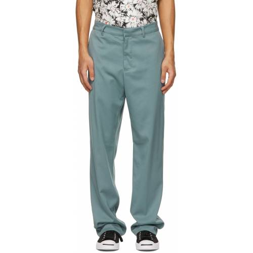 Noon Goons Blue Twill Ahmed Trousers 34