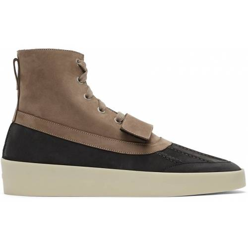 Fear of God Taupe & Black Duck Boots 40