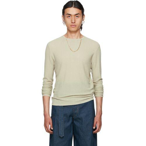 Vejas Beige Gauze Bandage Sweater S