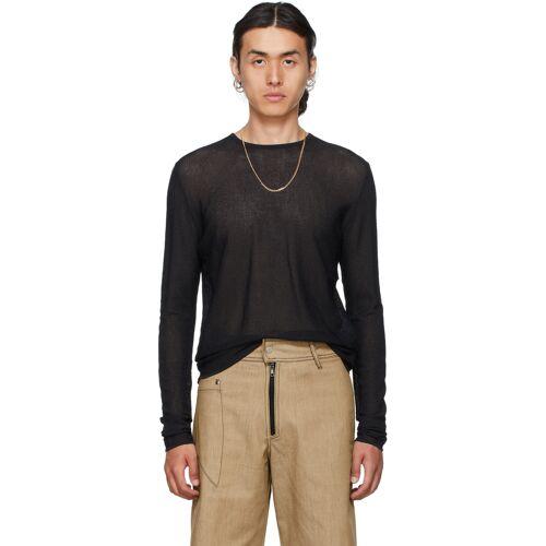 Vejas Black Gauze Bandage Sweater S
