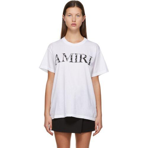 AMIRI White Bandana Logo T-Shirt S