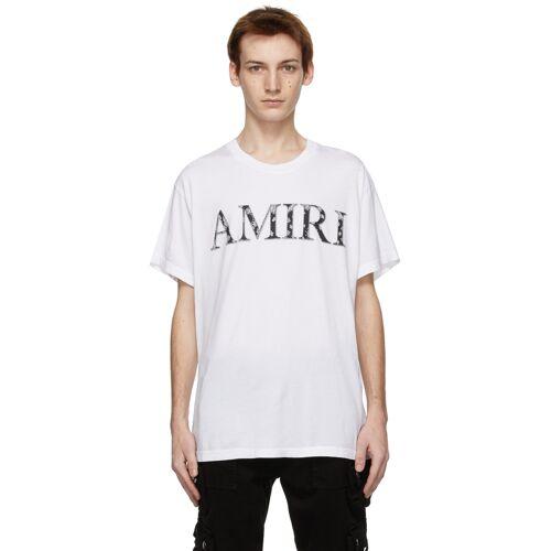 AMIRI White Bandana Logo T-Shirt L