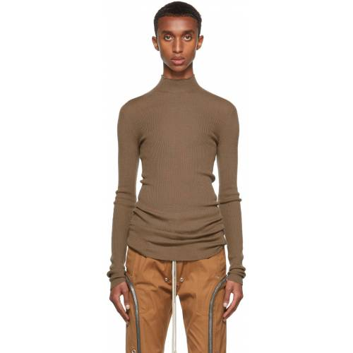 Rick Owens Brown Lupetto Turtleneck S