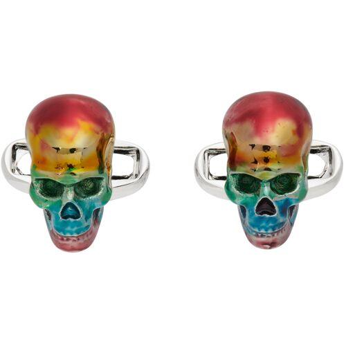 Paul Smith Multicolor Rainbow Skull Cufflinks UNI
