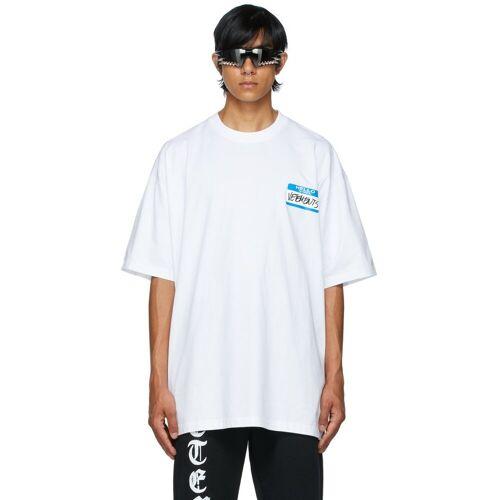VETEMENTS White 'My Name Is Vetements' T-Shirt XS