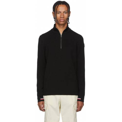 Moncler Black Maglione Lupetto Zip-Up Sweater S
