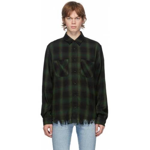 AMIRI Green Core Shadow Plaid Shirt XS