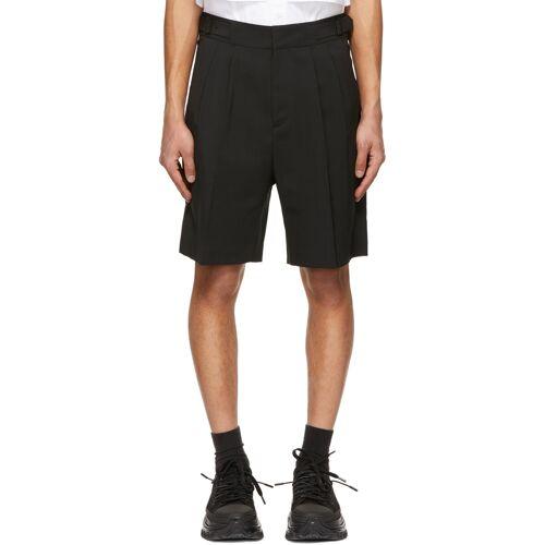 Juun.J Black Two-Pleat Gurkha Shorts 30