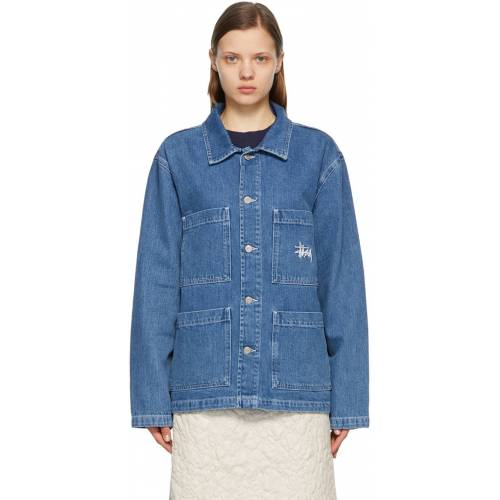 Stüssy Blue Denim Chore Jacket L