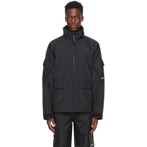 Stüssy Black Apex Shell Jacket M