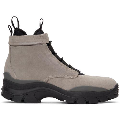 John Elliott Taupe Speed Lace-Up Boots 46