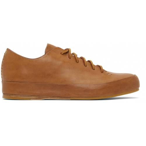Feit Tan Semi Cordovan Low Sneakers 40