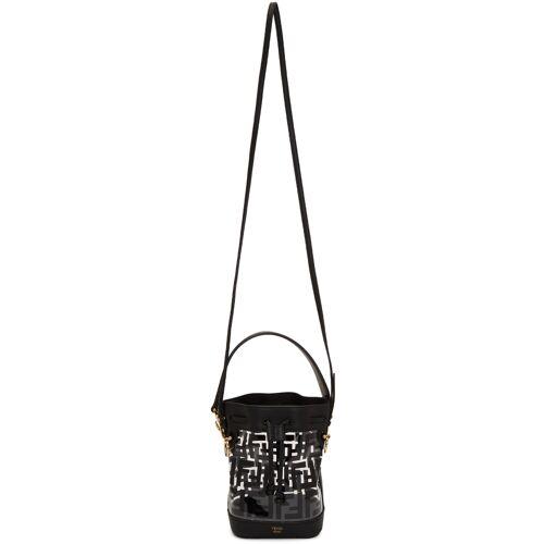 Fendi Transparent & Black PU Mini Mon Trésor Bag UNI