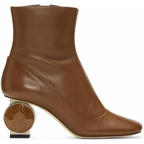 Loewe Brown Strass Heel Boots 40