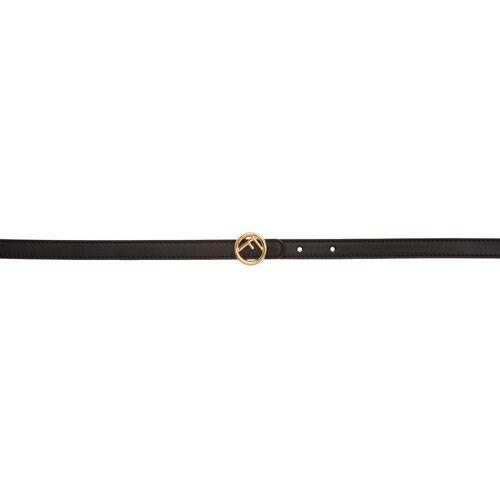 Fendi Black Mini 'F is Fendi' Belt 85