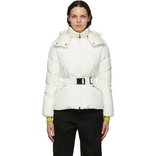 Moncler White Down Aloes Coat XL