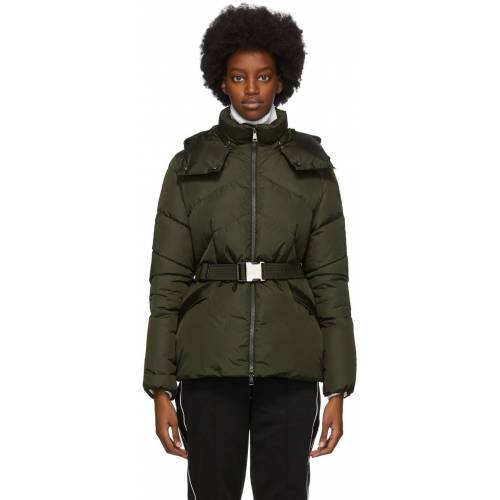Moncler Green Down Aloes Coat S